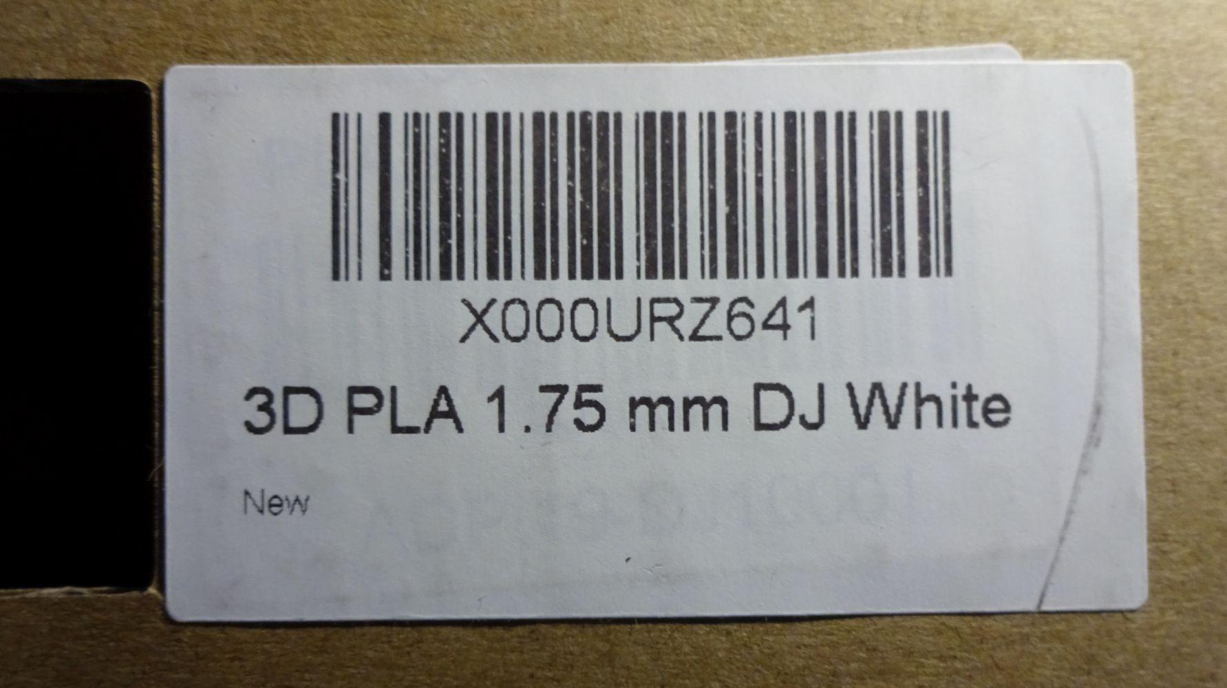 3d druck filament test sunlu pla dj white. Black Bedroom Furniture Sets. Home Design Ideas