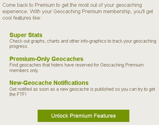 Geocaching premium mitgliedschaft schenken